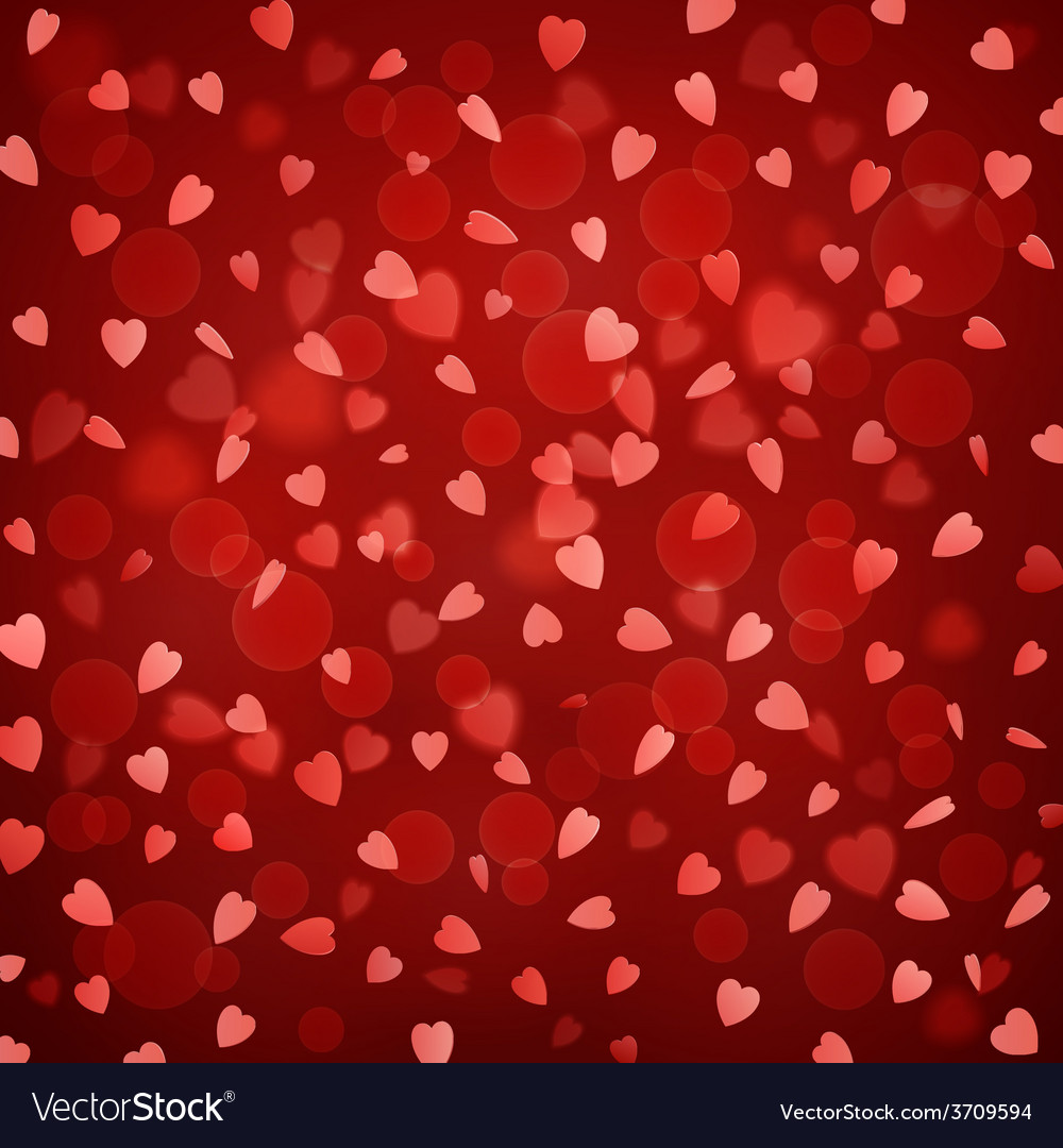Background with falling hearts vector | Price: 1 Credit (USD $1)
