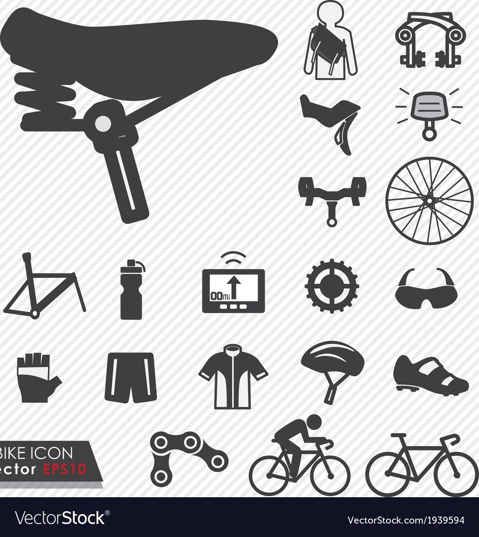 Bike icon set vector | Price: 1 Credit (USD $1)