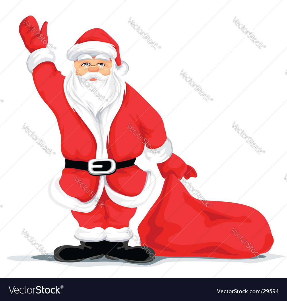 Christmas santa grandfather vector | Price: 3 Credit (USD $3)