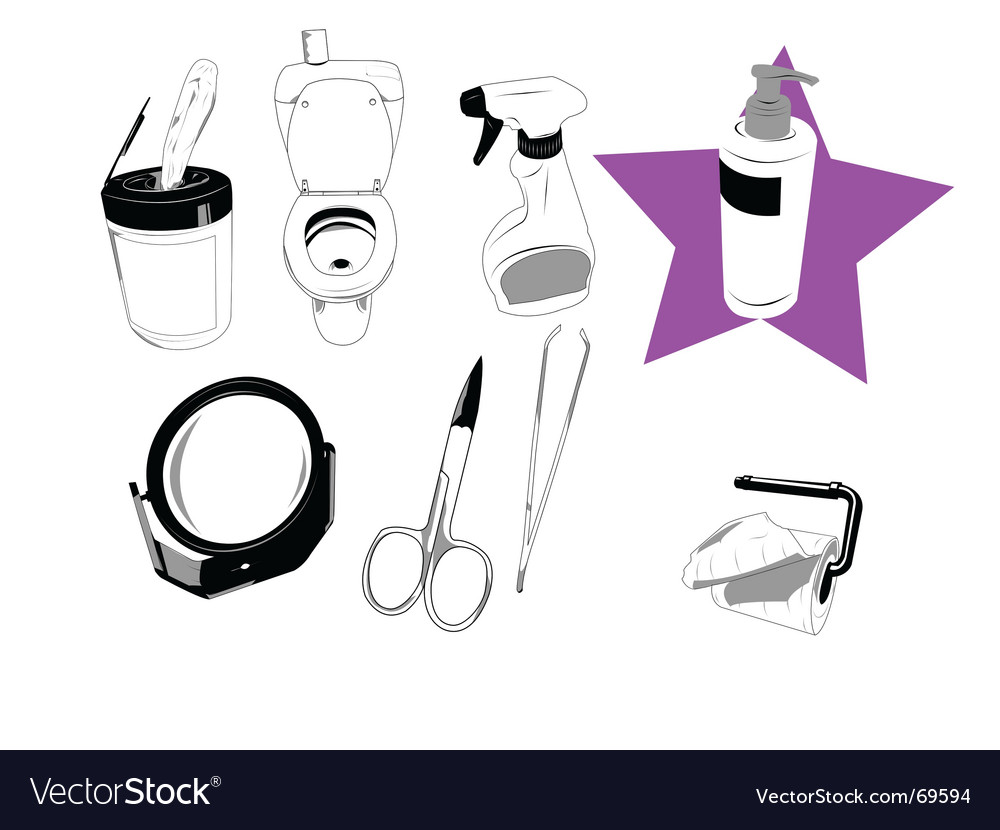 House objects vector | Price: 1 Credit (USD $1)