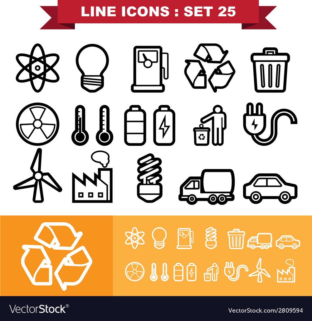 Line icons set 25 vector | Price: 1 Credit (USD $1)