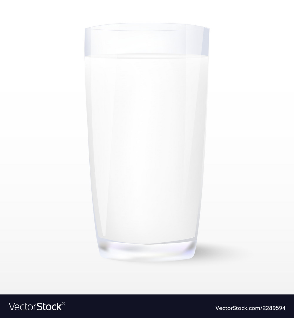 Milk insulated glass of milk vector | Price: 1 Credit (USD $1)