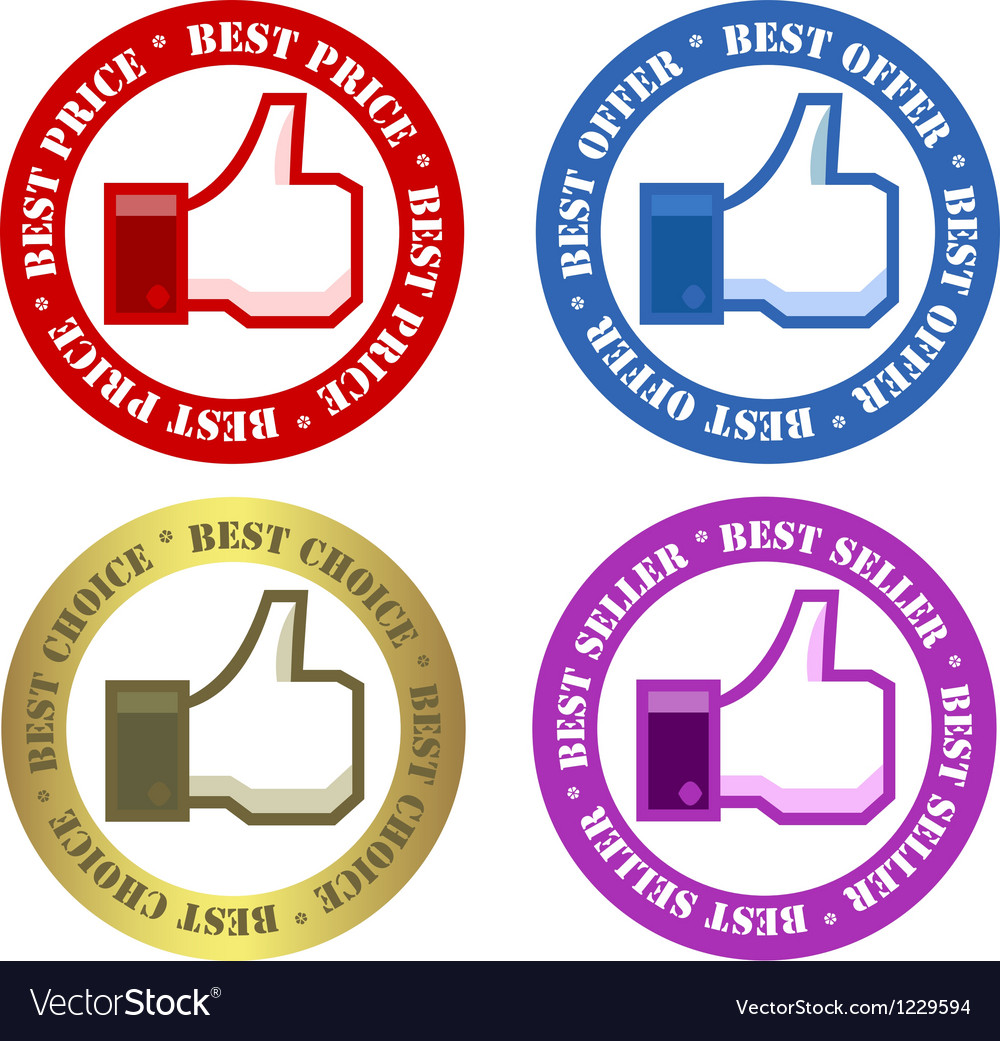 Set of advertisement labels vector | Price: 1 Credit (USD $1)