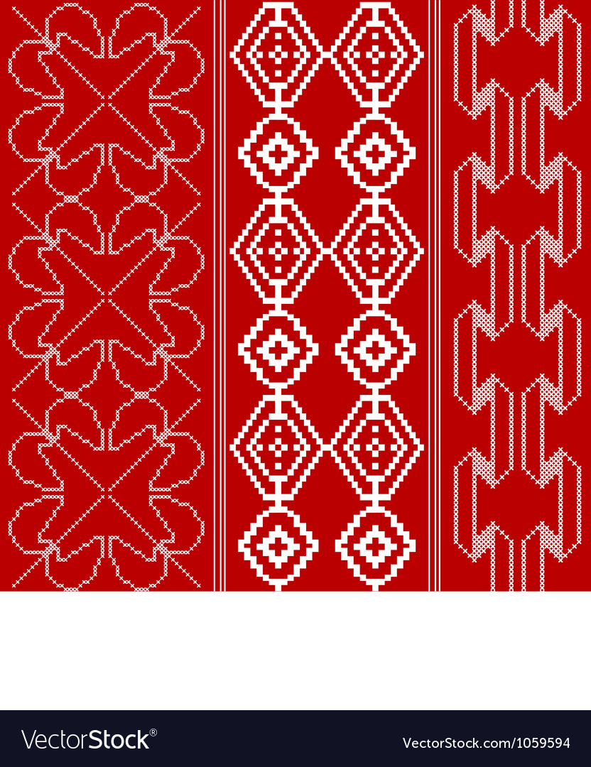 Traditional red and white pattern vector | Price: 1 Credit (USD $1)