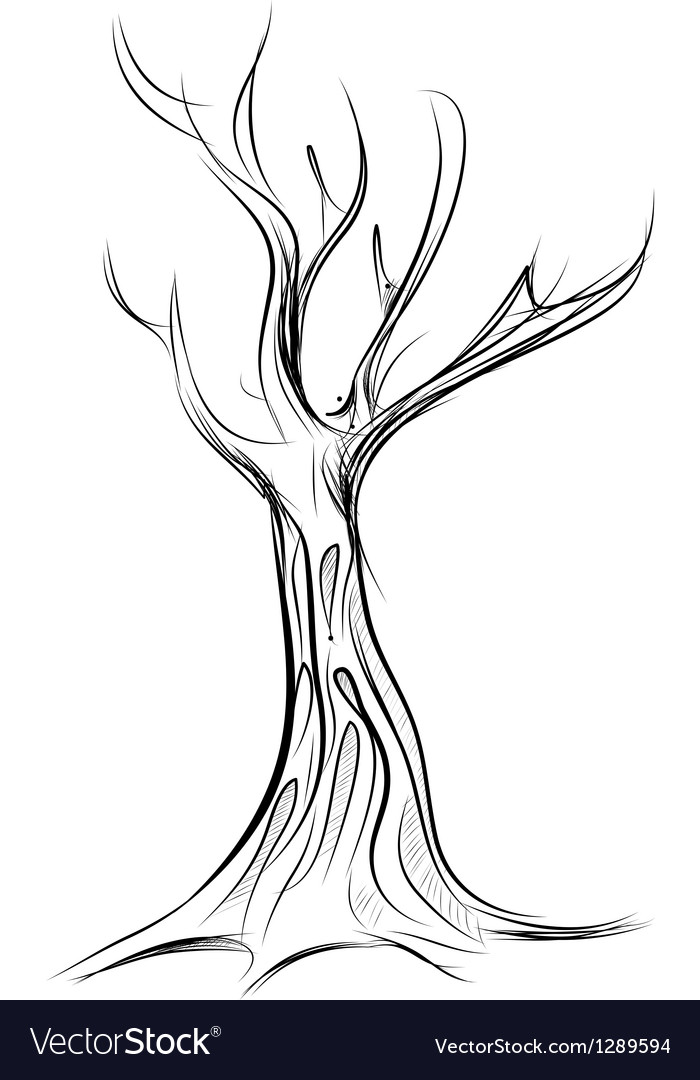 Tree cartoon icon isolated on white vector | Price: 1 Credit (USD $1)