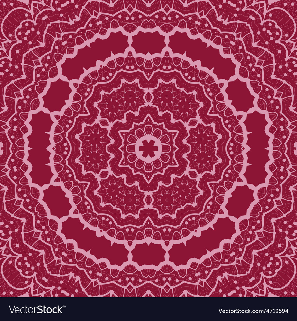 Violet seamless outlined mandala unusual tribal vector | Price: 1 Credit (USD $1)