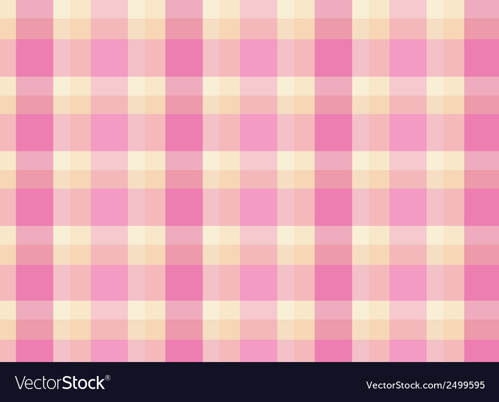 A topview of a pink checkered floormat vector | Price: 1 Credit (USD $1)