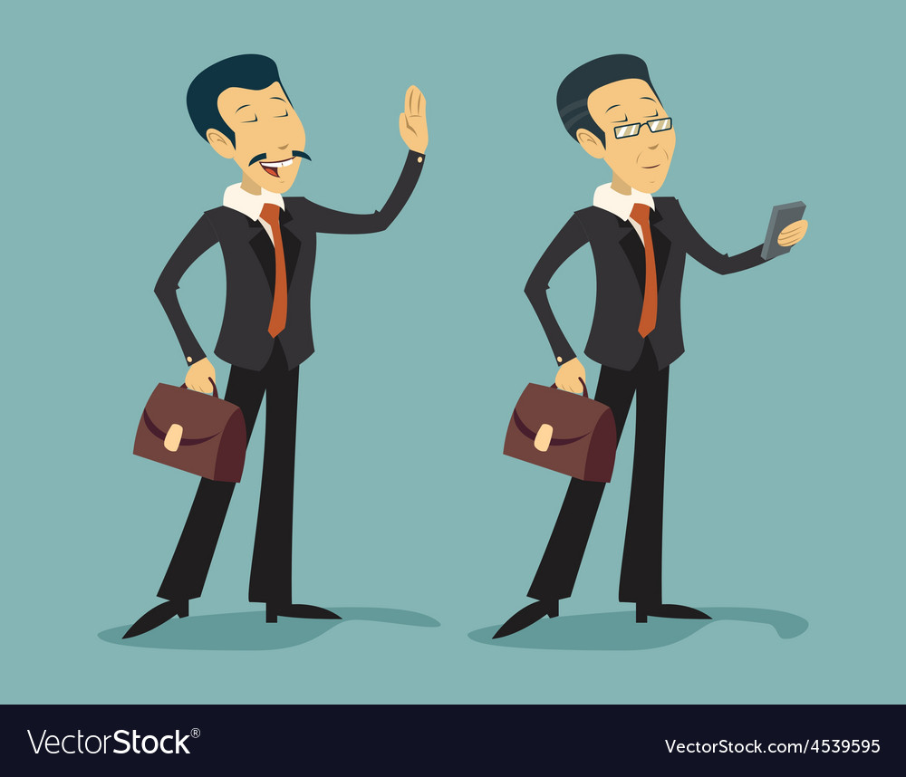 Asian china businessman characters young and old vector | Price: 1 Credit (USD $1)