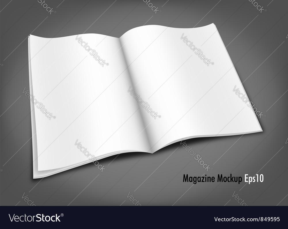 Blank magazine mockup template vector | Price: 1 Credit (USD $1)