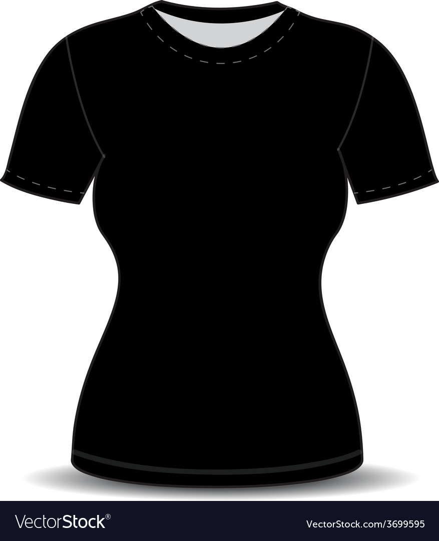 Blank t shirt template vector | Price: 1 Credit (USD $1)