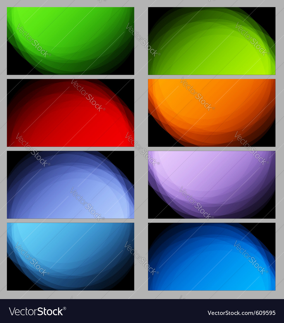 Collection of ray business cards with light vector | Price: 1 Credit (USD $1)
