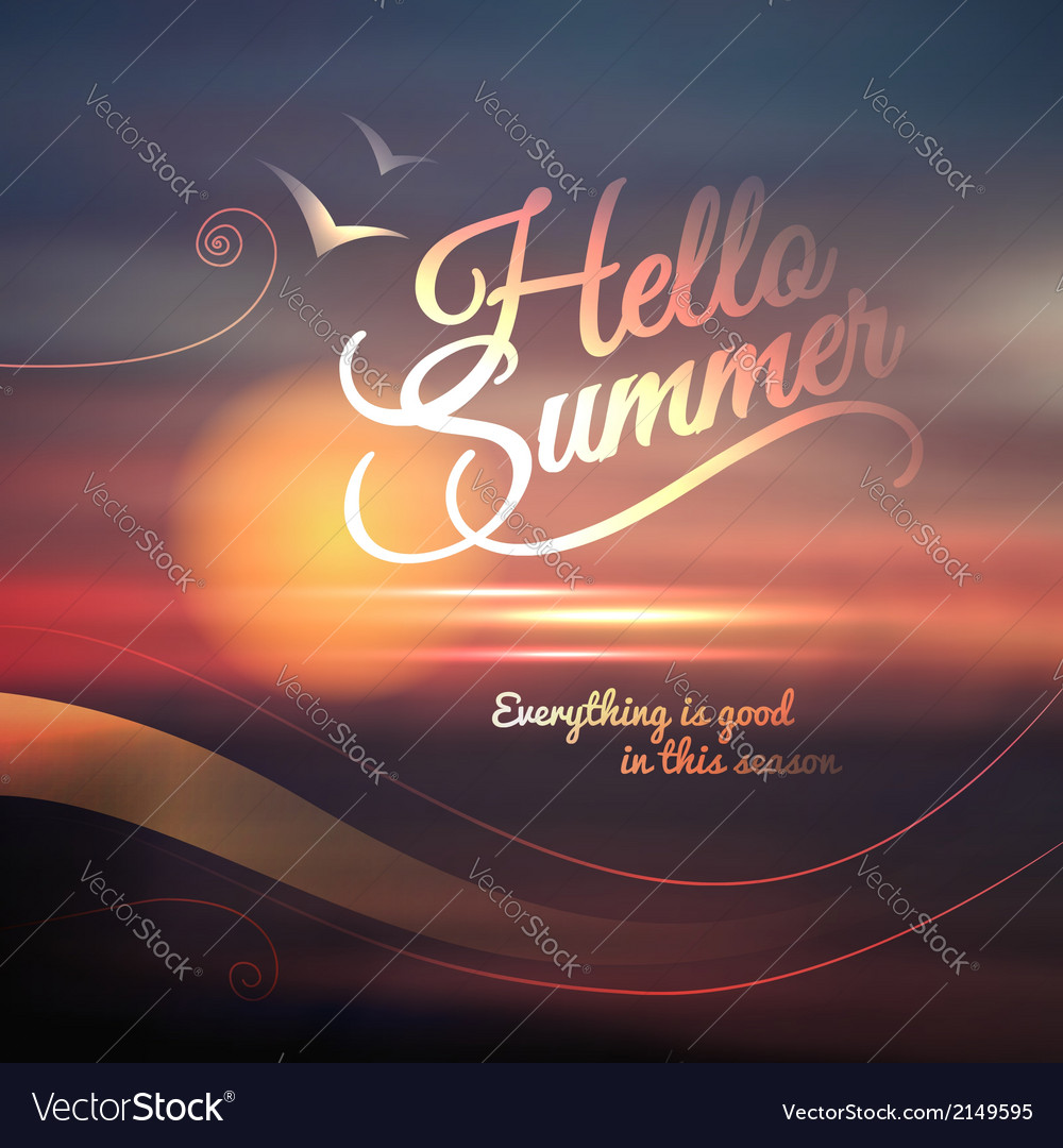 Creative graphic message for your summer design vector | Price: 1 Credit (USD $1)