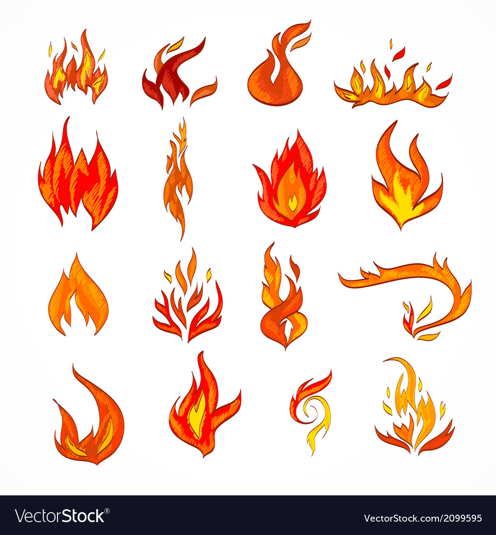 Fire icon sketch vector | Price: 1 Credit (USD $1)