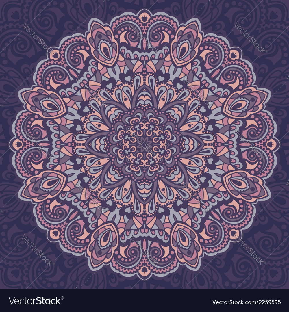 Flower mandala abstract element for design vector | Price: 1 Credit (USD $1)
