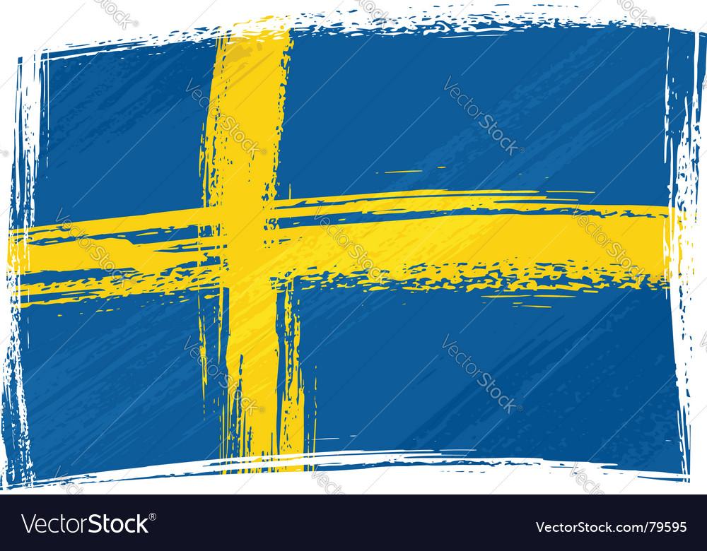 Grunge sweden flag vector | Price: 1 Credit (USD $1)