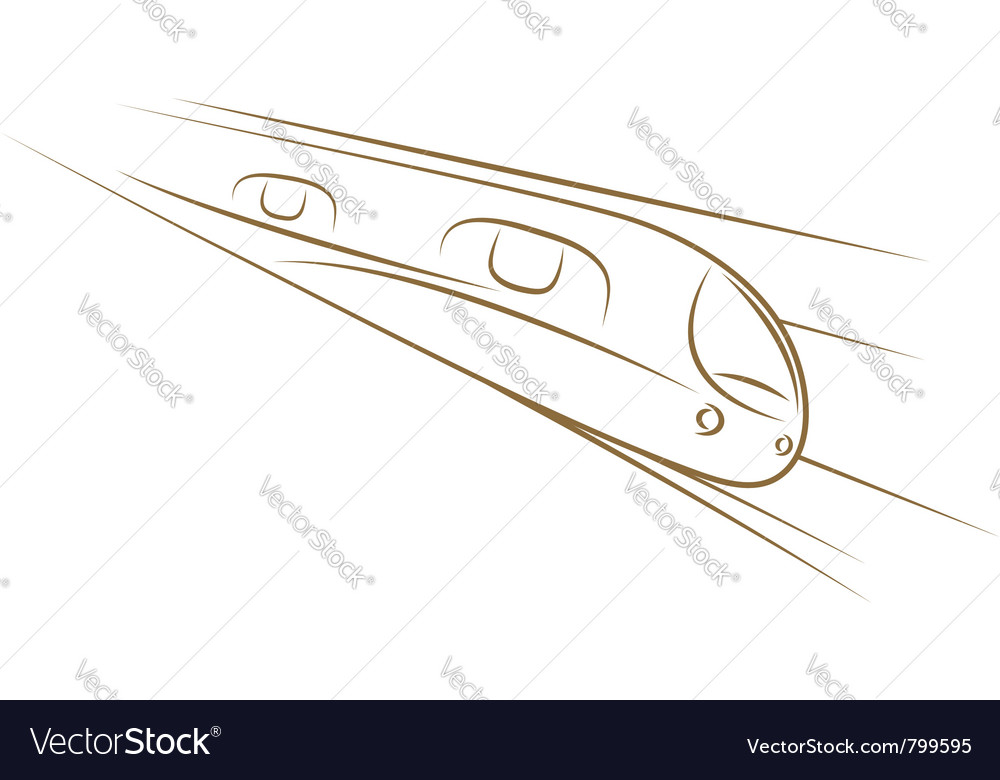 High-speed train sketch vector | Price: 1 Credit (USD $1)