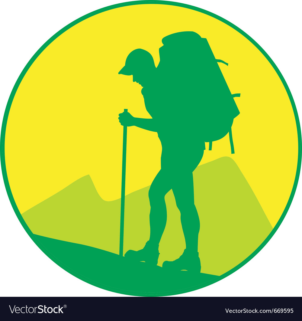 Man with backpack vector | Price: 1 Credit (USD $1)