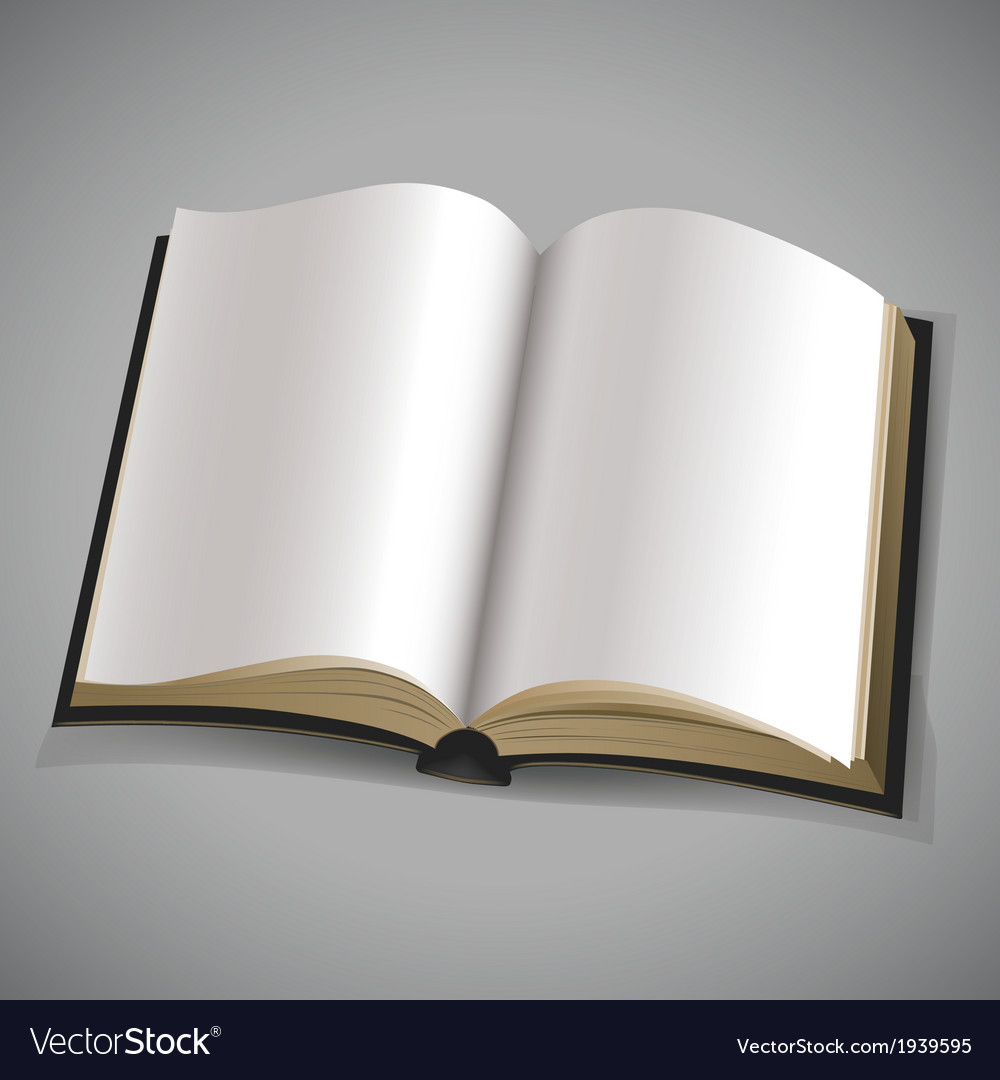 Open book with blank white pages vector | Price: 1 Credit (USD $1)