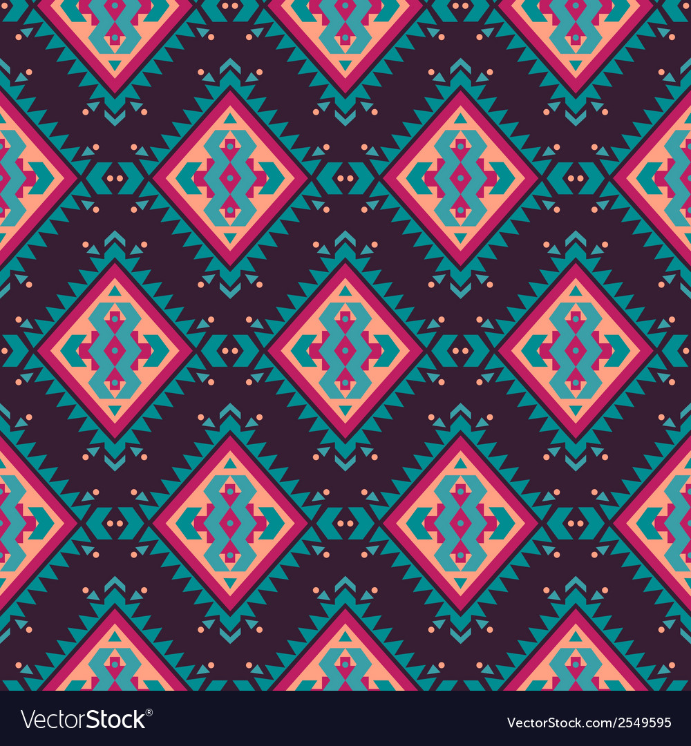 Seamless colorful decorative ethnic pattern vector | Price: 1 Credit (USD $1)