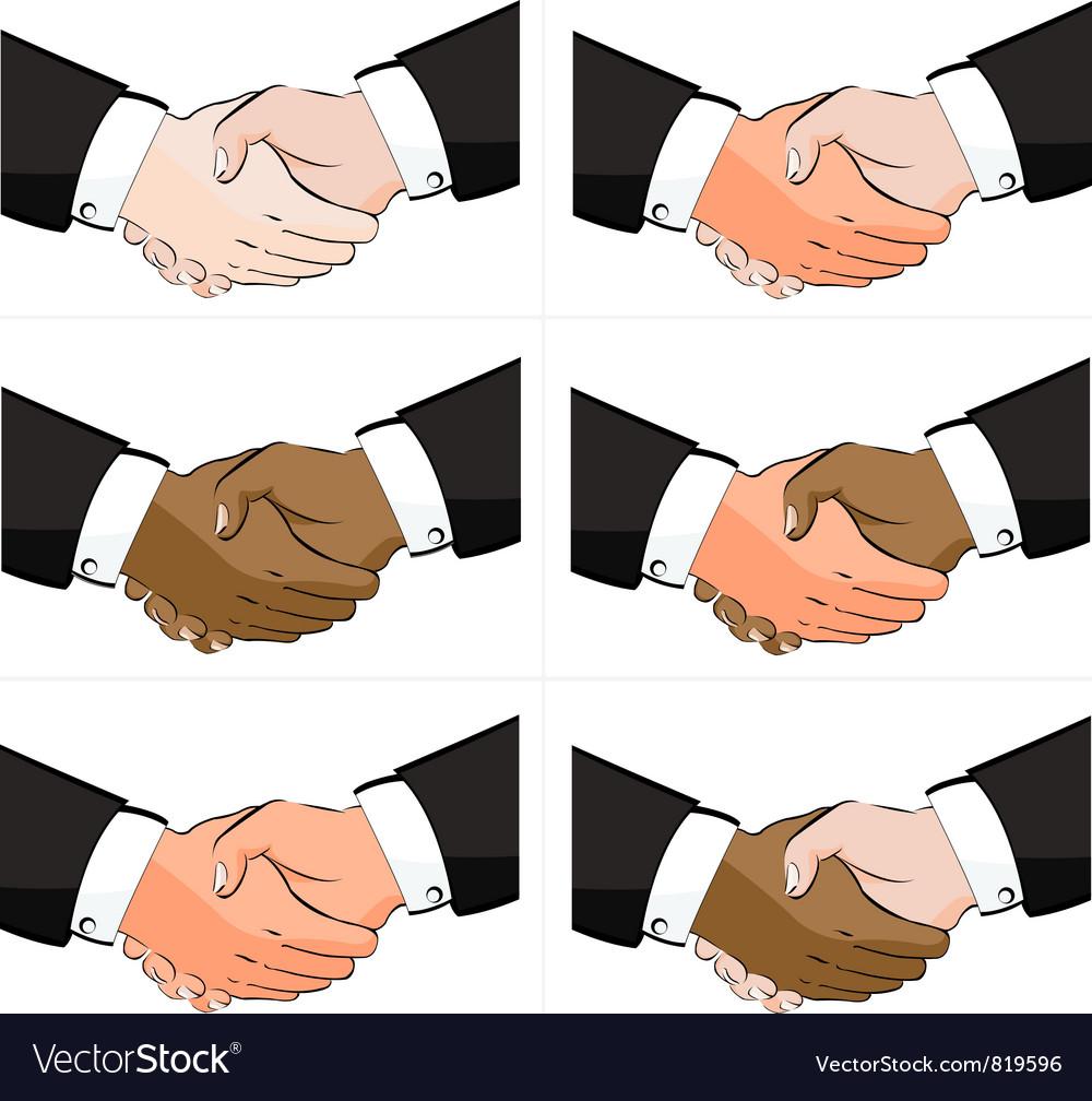 6 business handshake set vector | Price: 1 Credit (USD $1)