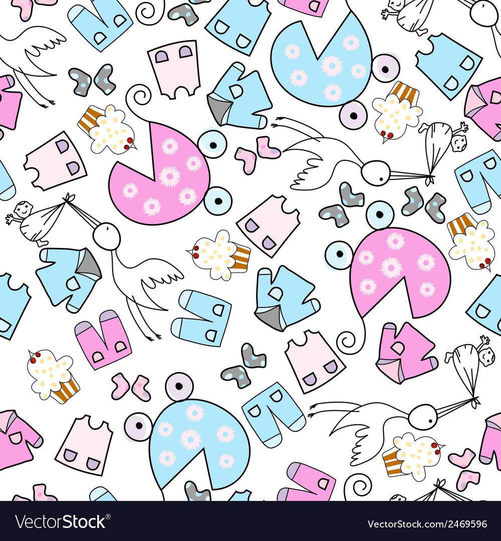 Baby seamles doodle vector | Price: 1 Credit (USD $1)