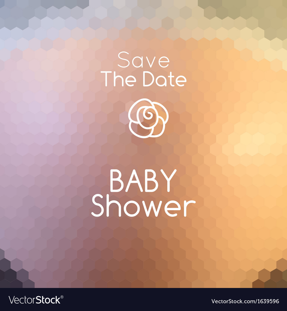 Baby shower invitation on abstract pregnant belly vector | Price: 1 Credit (USD $1)