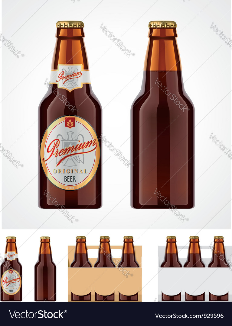 Beer bottle icon vector | Price: 3 Credit (USD $3)