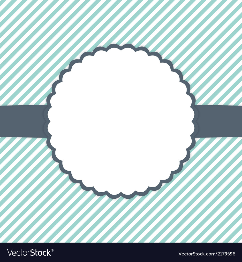 Blue mint and white template card vector | Price: 1 Credit (USD $1)