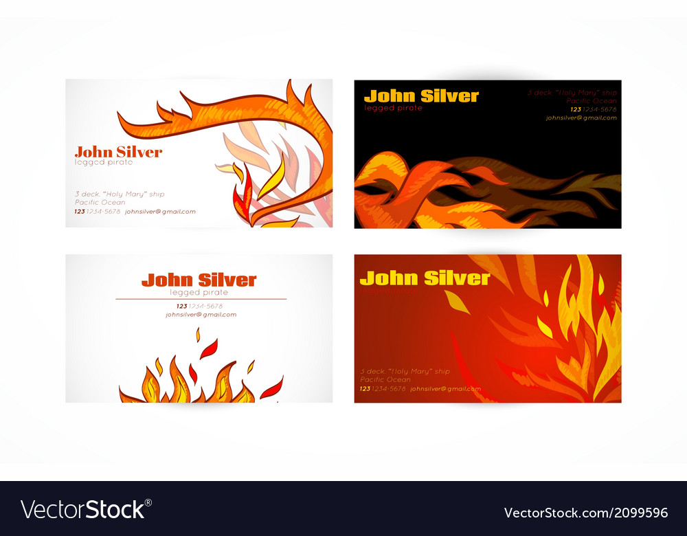 Business card fire vector | Price: 1 Credit (USD $1)