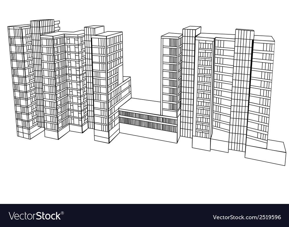 Complex housing vector | Price: 3 Credit (USD $3)