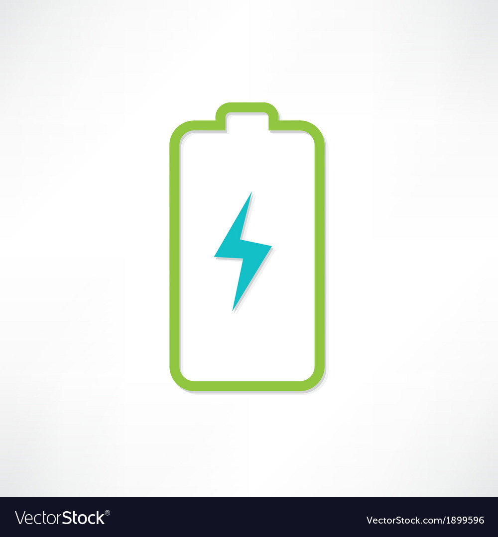 Green battery vector | Price: 1 Credit (USD $1)