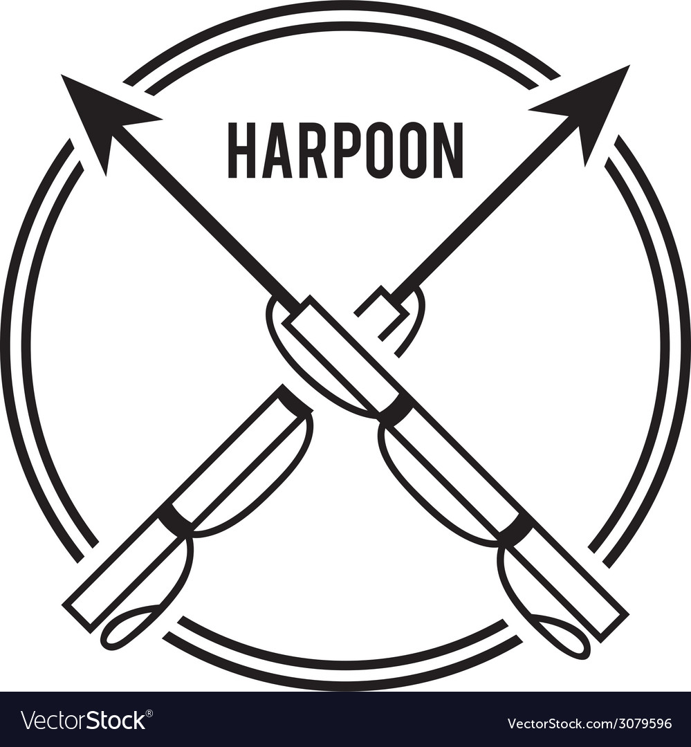 Harpoon design vector | Price: 1 Credit (USD $1)