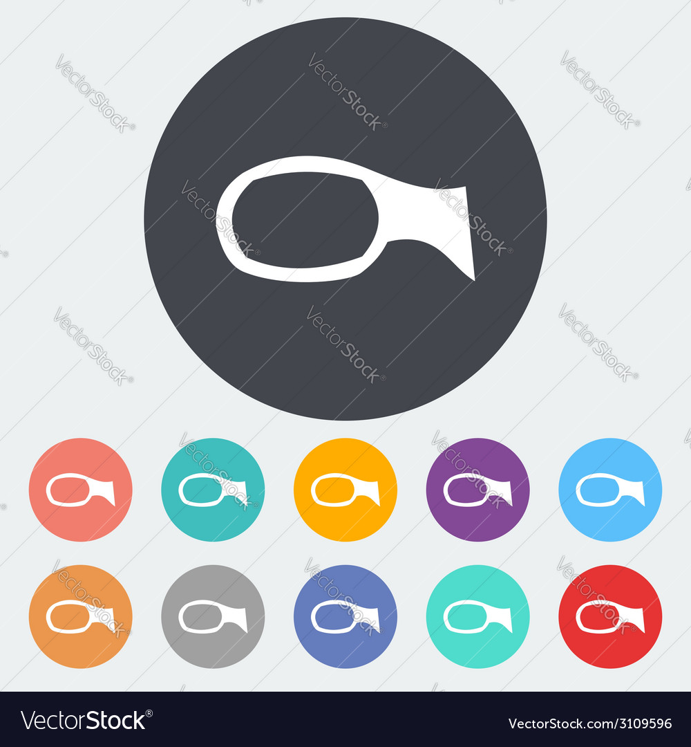 Mirror single icon vector | Price: 1 Credit (USD $1)
