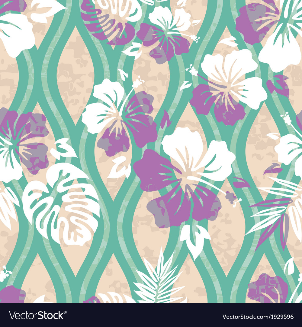Modern hawaiian shirt pattern vector | Price: 1 Credit (USD $1)