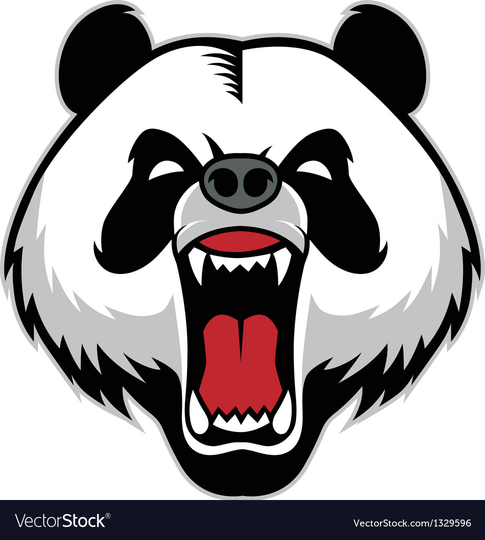 Panda head mascot vector | Price: 3 Credit (USD $3)
