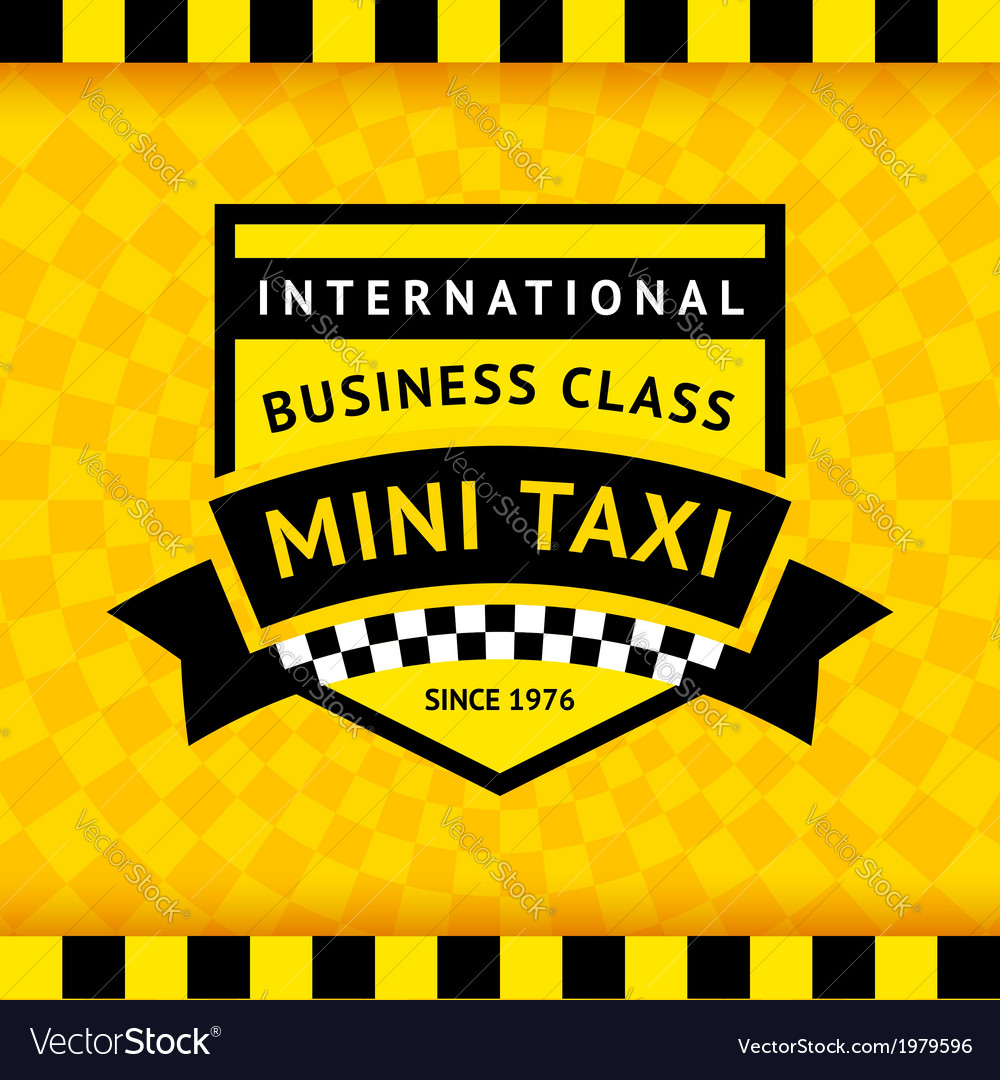 Taxi symbol with checkered background - 04 vector | Price: 1 Credit (USD $1)