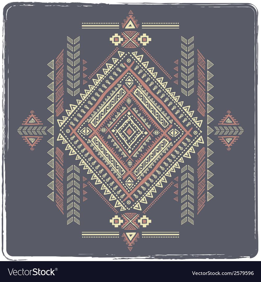 Tribal vintage ethnic background vector | Price: 1 Credit (USD $1)