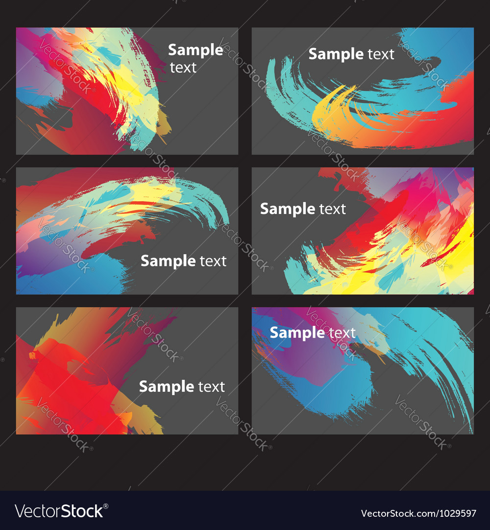 Abstract paint banners vector | Price: 1 Credit (USD $1)