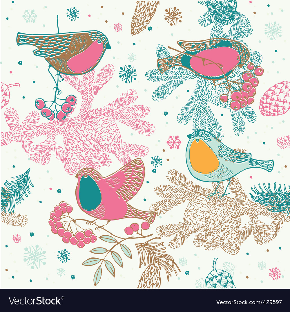 Birds background vector | Price: 1 Credit (USD $1)