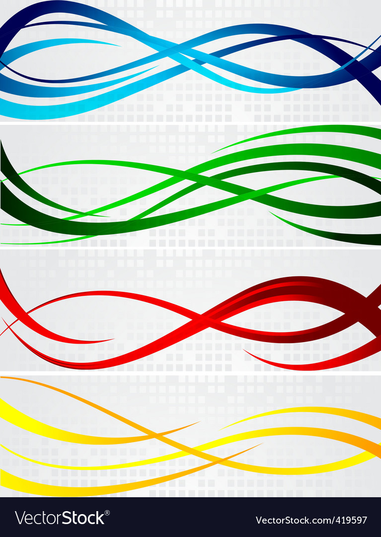 bright banners vector | Price: 1 Credit (USD $1)