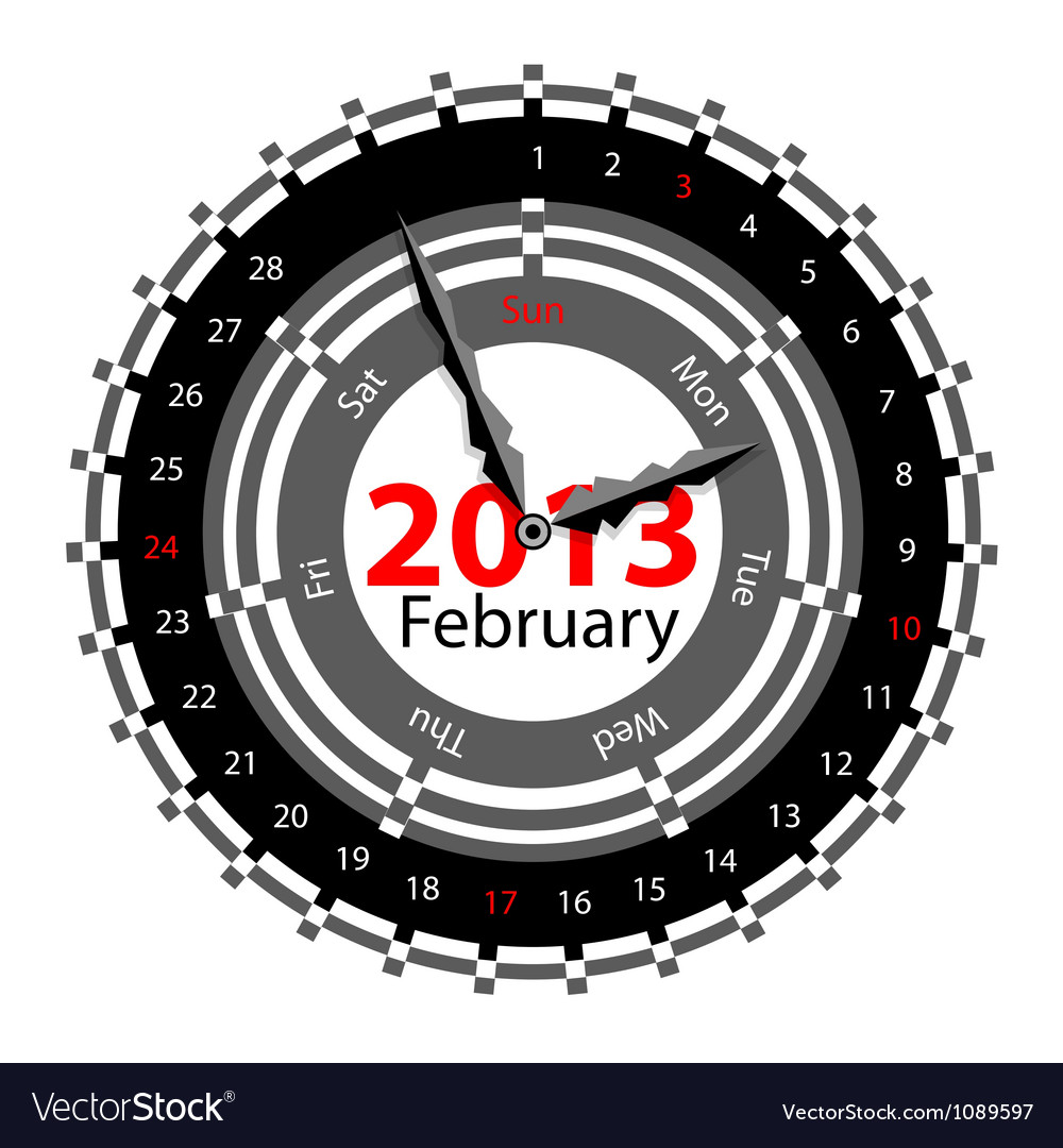 Calendar for 2013 vector | Price: 1 Credit (USD $1)