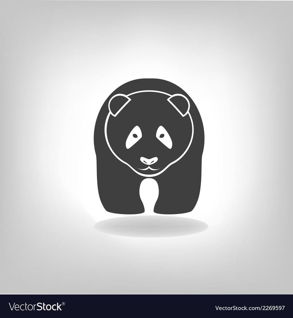 Panda grey label - vector   Price: 1 Credit (USD $1)