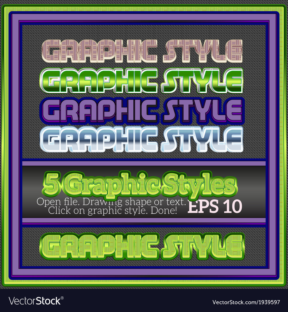 Set of bright colorful graphic styles for various vector | Price: 1 Credit (USD $1)