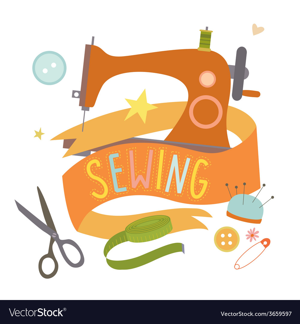 Sewing machine vector | Price: 1 Credit (USD $1)