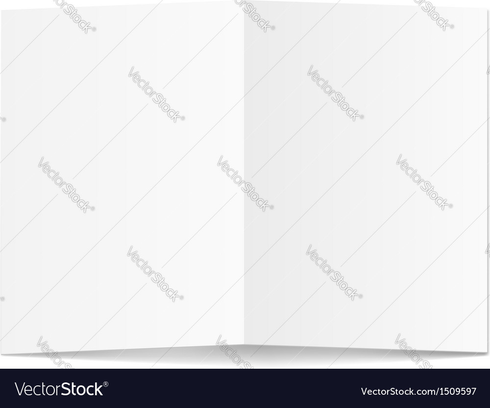 White blank paper card vector | Price: 1 Credit (USD $1)