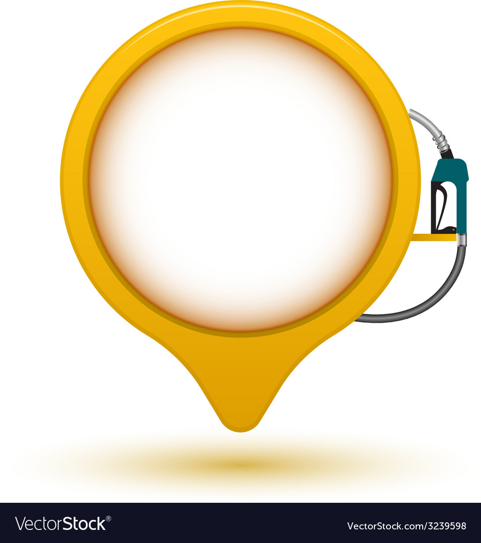 Banner circle point with fuel dispenser vector | Price: 1 Credit (USD $1)