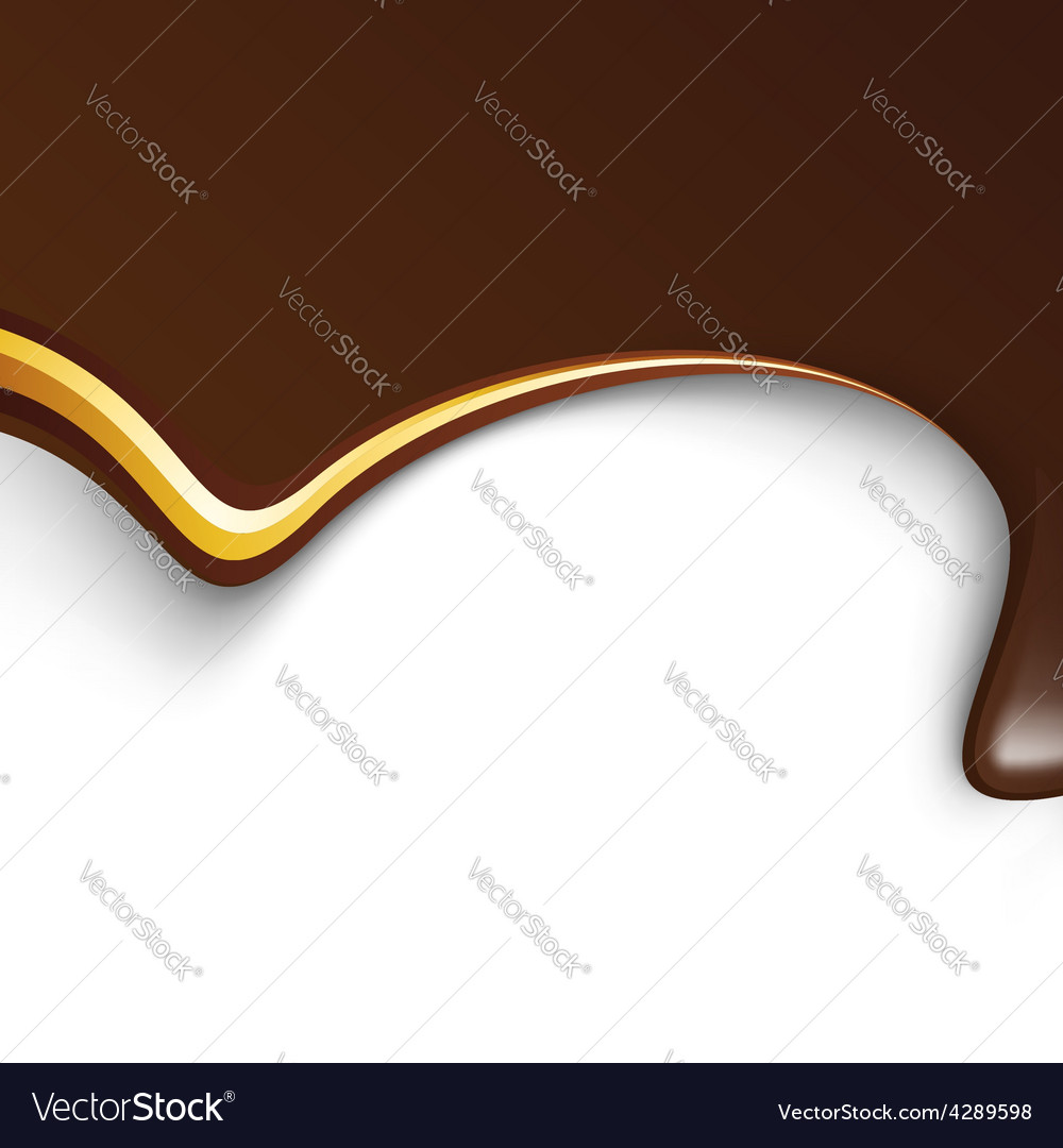 Chocolate wave with metal golden lines background vector | Price: 1 Credit (USD $1)