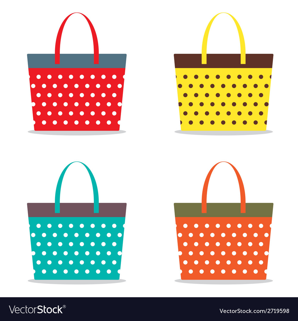 Colorful women bags vector | Price: 1 Credit (USD $1)