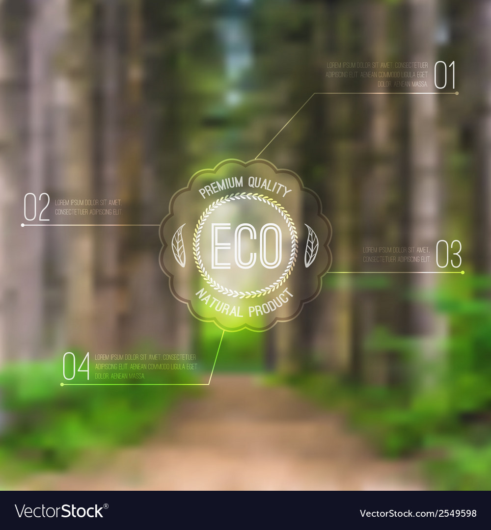 Ecological blurred with road trees and eco vector | Price: 1 Credit (USD $1)