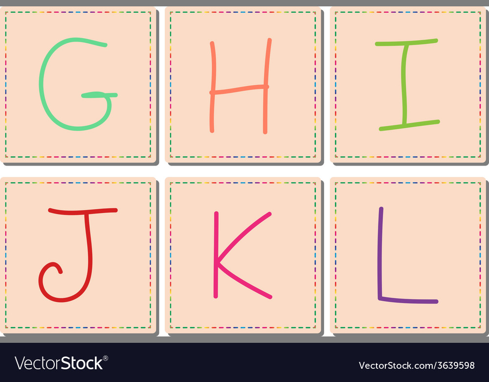 G to l alphabets set 2 vector | Price: 1 Credit (USD $1)